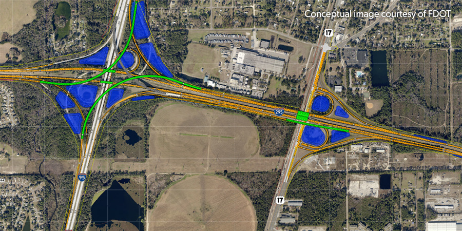 Interstate 95 & 295 & US 17 Interchange Improvements