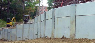 Retaining Wall Design for Campbell Hall at West Liberty University