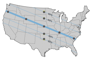 Map of Solar Eclipse in US