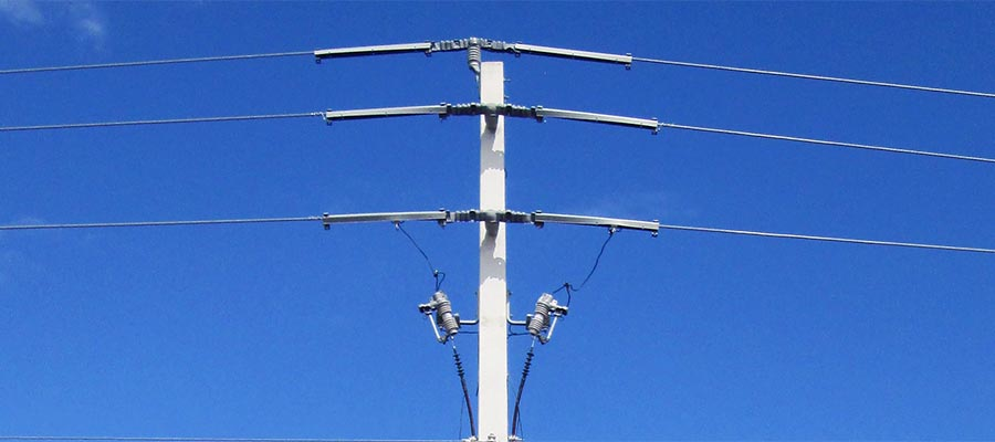 Concrete transmission pole